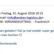 feedback logistic frankfurt